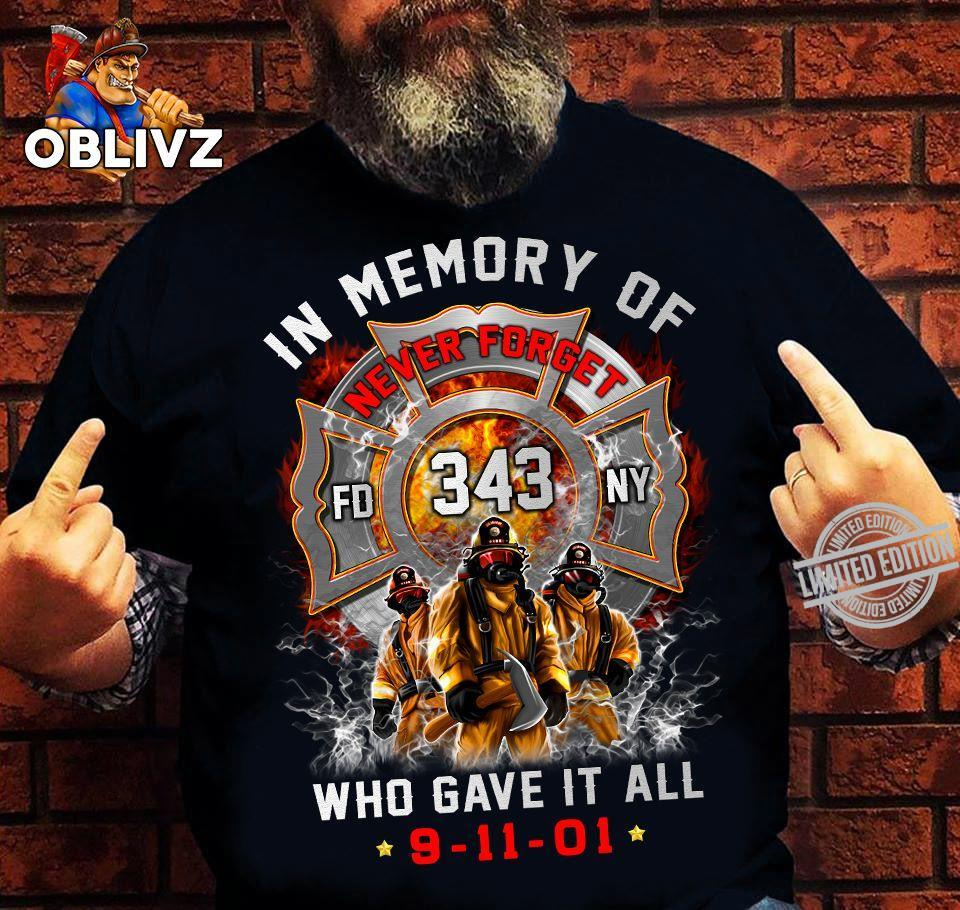In Memory Of Never Forget Who Gave It All Shirt